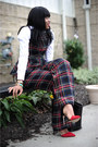 Crimson-tartan-asoscom-pants-black-zara-bag-ruby-red-zara-pumps