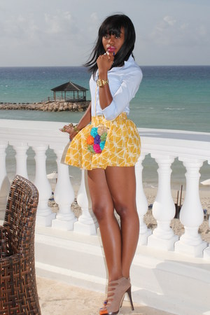 Aldo heels - H&M shirt - Forever 21 skirt