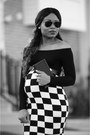 Black-checkered-asos-skirt-black-asoscom-top-black-christian-louboutin-pumps