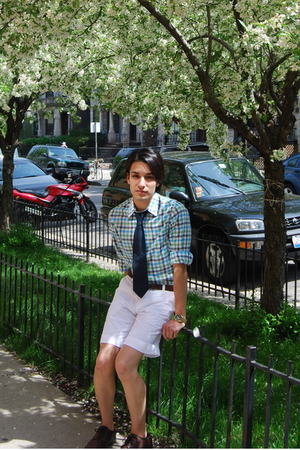 H&amp;M shirt - H&amp;M shorts - vintage tie - vintage belt - Aldo shoes - Michael Kors
