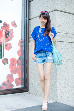 sky blue denim Zara shorts