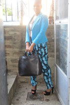 H&M blazer - Zara bag - DOTS pants - Steve Madden sandals - Target necklace