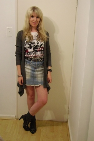 Foschini sweater - t-shirt - random store belt - Truworths skirt - socks - Luell