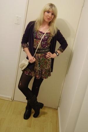 FE sweater - Foschini dress - Edgars - DIY boots - Zoom