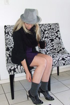 gray rage hat - black snnodfoschini scarf - black 34 random boutique sweater - p