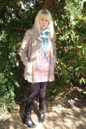 FE jacket - random boutique dress - fundangos scarf - stockings - DIY