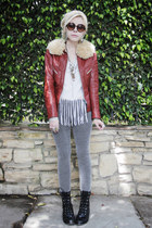 brick red vintage jacket