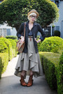 Neutral-straw-bowler-h-m-hat-gray-knit-jcrew-blazer-tan-vintage-dooney-bou