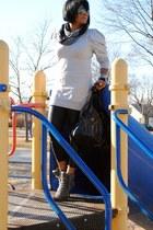ASH shoes - Deena & Ozzy scarf - Miu Miu sunglasses - asos sweatshirt
