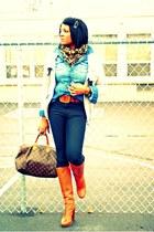 tawny Michael Kors boots - black rag & bone jeans