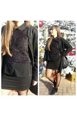 new look top - Eram boots - Sheinside coat - atomes blouse