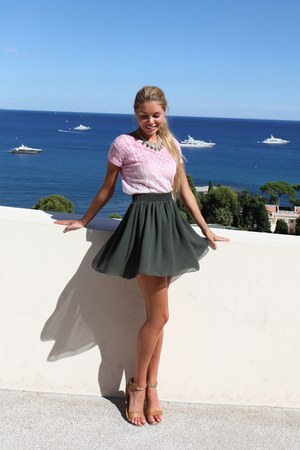 green American Apparel skirt