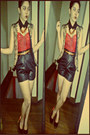 Leather-shorts-soon-shorts-tribal-vest-nxy-pumps