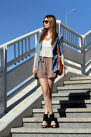 Sheinside romper - Ray Ban sunglasses - pull&bear necklace