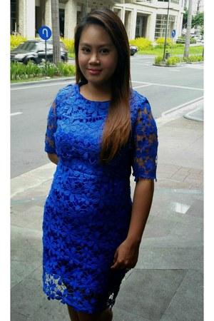 blue crochet Sheinside dress