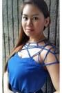 Blue-chiffon-sheinside-blouse