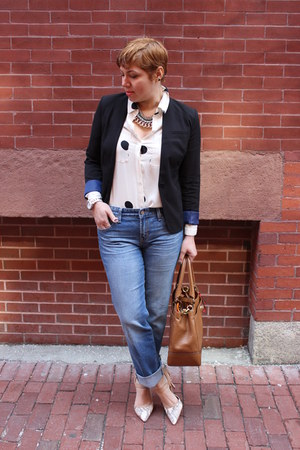 Gap jeans - American Eagle blazer - Loft shirt - coach bag - BCBGeneration pumps