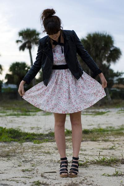 pink Rodarte for Target dress - black Forever 21 jacket - black Forever 21 shoes