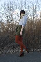black H&M shirt - olive green Urban Outfitters shorts - burnt orange Forever 21