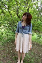 sky blue H&M top - light pink f21 skirt