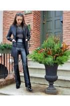 black Giuseppe Zanotti boots - black Aritzia leggings - black 6126 blazer