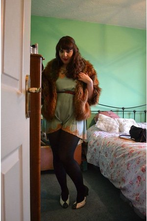 black black opaque boots tights - burnt orange asos cape - red Primark belt
