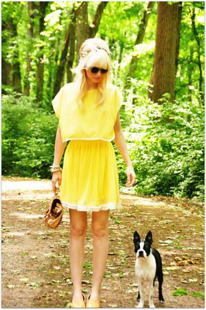 chiffon dress - sunglasses