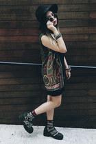 thrifted vintage shirt - Jeffrey Campbell shoes - Esprit dress