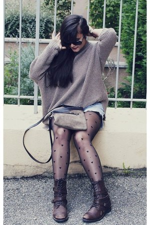 American Apparel stockings - Aldo boots - Thrift Store purse