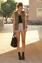 c&a vest - litas Jeffrey Campbell shoes - animal print H&M shorts
