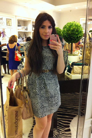 Zara dress - Marc Jacobs bag - asos belt - House of Harlow 1960 bracelet
