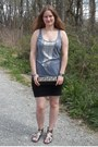 Silver-gap-top-black-body-con-skirt-divided-by-h-m-skirt