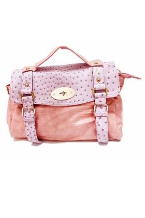 light pink ostrich unknown brand bag