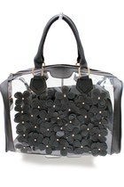 Black Jelly Flower See Thru Bag
