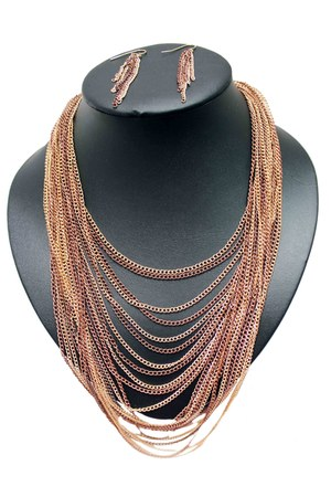 bronze unbranded necklace
