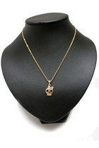 Gold-skull-bow-unbranded-necklace