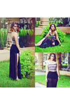 black maxi skirt skirt - light pink crop top top