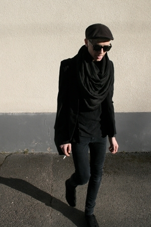 blazer - Cheap Monday jeans - H&amp;M shoes - H&amp;M scarf - Solid Jeans t-shirt - H&amp;M 