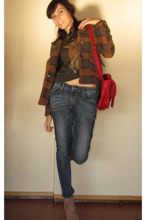 tan litas Jeffrey Campbell boots - brown RULYS coat