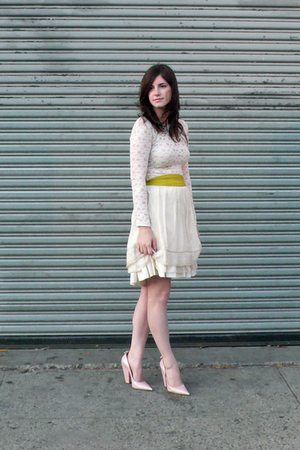 free people shirt - Hanii Y skirt - Abaete skirt - HUE tights - Givenchy shoes -