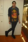 Black-creepers-shoes-jeans-shirt-ganesha-t-shirt-t-shirt
