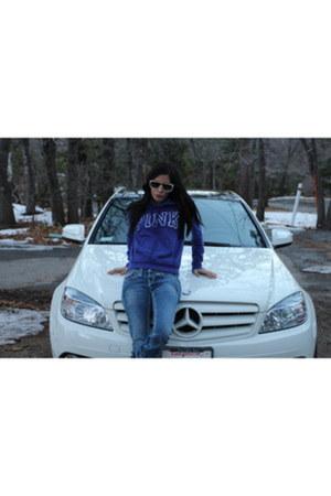 True Religion jeans - purple victoria secret hoodie