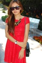 red lace dress PUBLIK dress