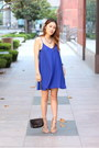 Blue-publik-dress-beige-shoemint-heels-jewelmint-necklace