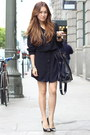Black-shirt-dress-zamrie-dress-black-oversize-bag-salvatore-ferragamo-bag