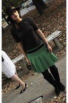 hat - blouse - skirt - boots