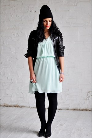 aquamarine H&M dress - black Zara jacket