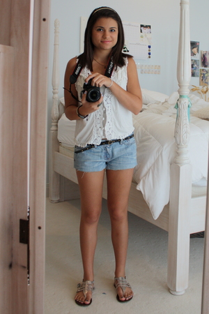 Urban Outfitters vest - abercrombie & fitch shorts - shoes - Gap belt - Lucky Br