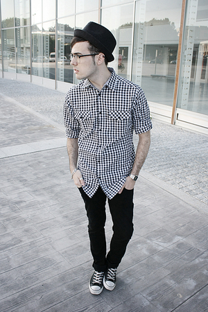 pull&bear hat - Zara jeans - Lefties shirt