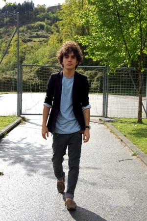 Comme des Garcons blazer - united colors of benetton t-shirt - H&M jeans - Super